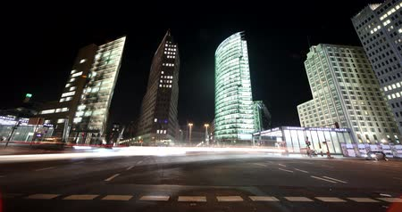 berlino : 4K Berlino Timelapse video della piazza Potsdam (Potsdamer Platz), Germania