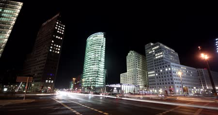 exterior : 4K Timelapse video footage of the Potsdam Square (Potsdamer Platz) in Berlin, Germany