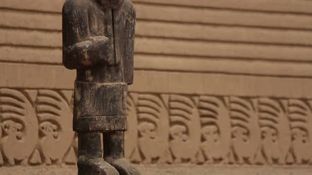 prehistory : HD-Video footage of ruins of Chan Chan in Peru, near by Trujillo. Chan Chan is the largest Adobe City in the World. Constructed by the Chimor, kingdom of the Chim?. Stock Footage