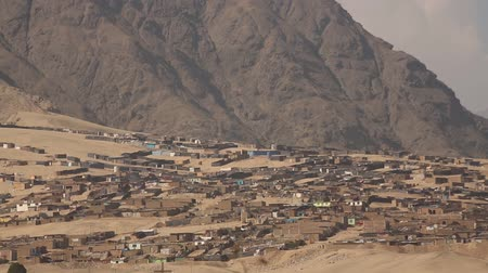 cheerless : Video footage of huts or Slums in the desert near Trujillo, Peru