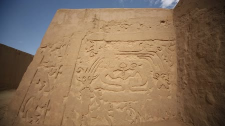 prehistory : Video footage of the ruins of the Huaca Arco Iris in Peru, near by Trujillo. Stock Footage