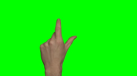 dedo : Green screen hand gestures on a touchscreen.  right male hand.   Also availabe with the left hand and a female hand.