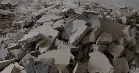 destruct : Video footage of a destroyed floor in a house