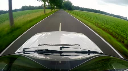 4K video footage of driving in a rural area with a on-board camera on the roof in germany