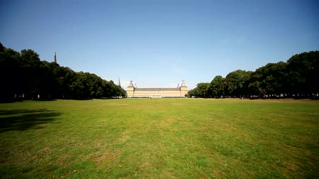 citylandscape : video footage of the so called Hofgarten with the university in Bonn. Germany Stock Footage