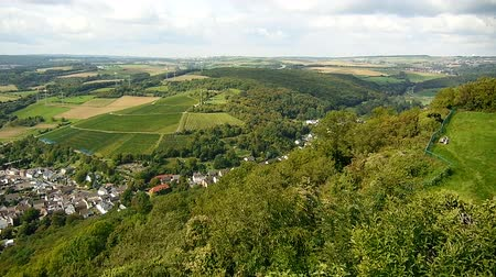 citylandscape : video footage of a panoramic landscape of the region near Bonn and Cologne in germany. Here Bad Neuenahr with the river Ahr.