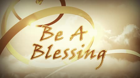 požehnat : Be a Blessing This Thanksgiving features animated text, gold ribbons, and butterflies to bring a Thanksgiving message about being a blessing Dostupné videozáznamy