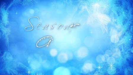 особенности : Frosting Window Seasons Greetings 4K features a blue background with animated lights and particles and frost appearing at the edges with an animated hand-written Season's Greetings message.