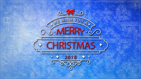 We Wish You a Merry Christmas Window Frost 4K Loop features a view through a frosting window out to a blue sky with moving clouds and an animated We Wish You a Merry Christmas message in a loop Wideo