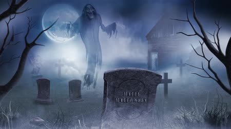 ürpertici : Ghostly Graveyard Happy Halloween in the Moonlight 4K