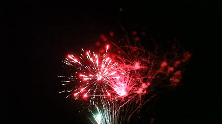 consecutivo : close up of fireworks wedding Stock Footage