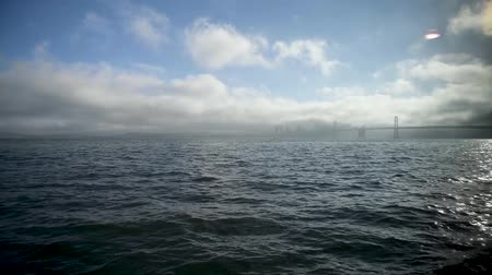 San Francisco Golden Gate Bridge , view from the sailing ship