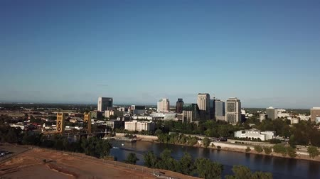 The Old Sacramento Bridge aerial video
