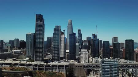San Francisco, California, aerial video Stock mozgókép