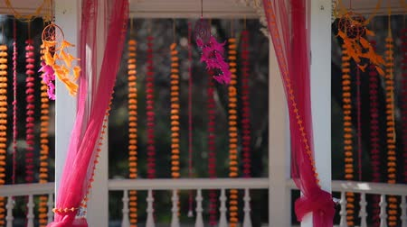 Indian wedding traditional floral decor Stock mozgókép