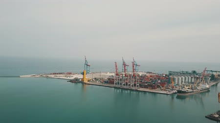Aerial view of Odesa seaport