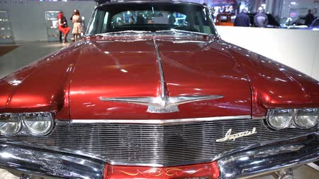 oldtimer auto : Helsinki, Finland - 16 april 2017: Elegant Chrysler Imperial 1960. De 40e American Show Car in Helsinki Fair Centre