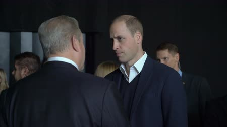 inheritor : HELSINKI, FINLAND - NOVEMBER 30, 2017: Prince William, Duke of Cambridge, talks with Al Gore Vice-President of the United States, Nobel Peace Prize Laureate at the tech and startup event Slush in Messukeskus Expo center.