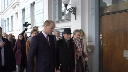 herança : HELSINKI, FINLAND - NOVEMBER 30, 2017: Prince William, Duke of Cambridge attends the city hall Helsinki during his visit to Finland.