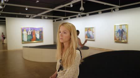 munch : OSLO, NORWAY - JULY 04, 2018: Edward Munch Museum. Visitors admire the masterpieces of genius