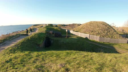 HELSINKI, FINLAND - NOV 24, 2018: Suomenlinna old fortress, Bastion system of fortifications built in the middle of the 18th century on the Islands near the capital of Finland Helsinki. The list of UNESCO world heritage sites.