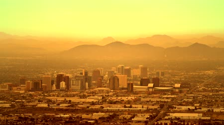 anka kuşu : Timelapse of Phoenix, Arizona. Hazy Day in the Phoenix. United States of America. November 20, 2017.