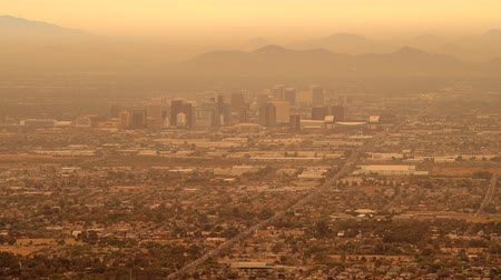 anka kuşu : Phoenix, Arizona. Hazy Day in the Phoenix. United States of America. November 20, 2017. Stok Video
