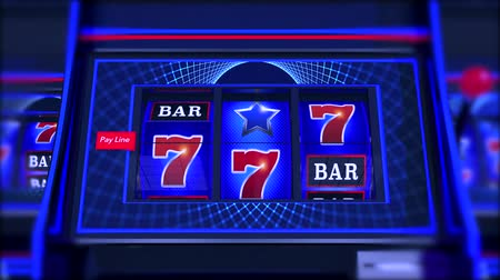 sete : Spinning Las Vegas Style Slot Machines. 3D Rendered Animation.