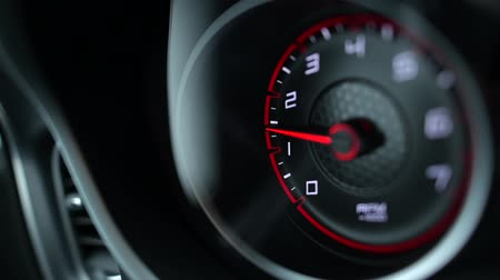 tachometer : Sporty Car Dashboard Instruments. Rounds Per Minute Display. Modern Vehicle Dash Informations.