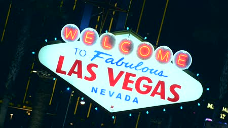 азартная игра : Welcome in Las Vegas. Strip Sign.