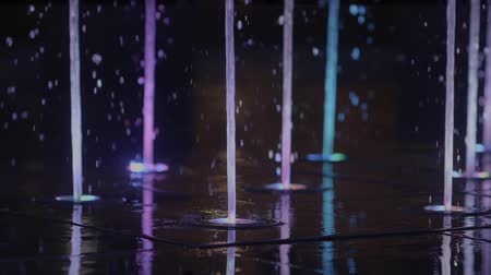 Лас Вегас : Fountain Illumination and Water Blow in Slow Motion