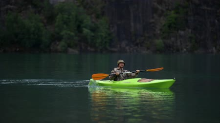 canoa : Kayak Trip on the Scenic Glacial Lake
