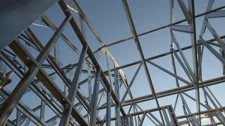 madeira compensada : Steel Frame House Structure also Called Skeleton Frame.