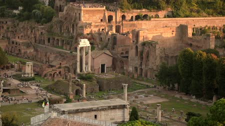 gladiador : October 15, 2019. Rome, Italy. Roman Forum Ancient Government Buildings. Popular Travel Destination. Vídeos