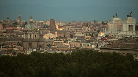 damasco : Rome Historic Buildings and the Cityscape Panorama.