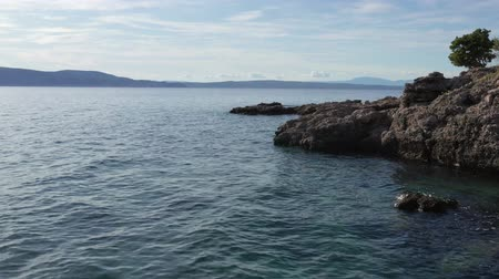 크로아티아 : Croatian Adriatic Sea Scenery. Mediterranean Sea Coast. European Summer Destination.