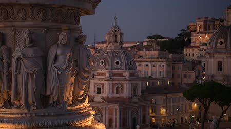 damasco : Rome Italy Sculptures at Night. Church of the Most Holy Name of Mary. Scenic Italian Architecture and Art. Vídeos