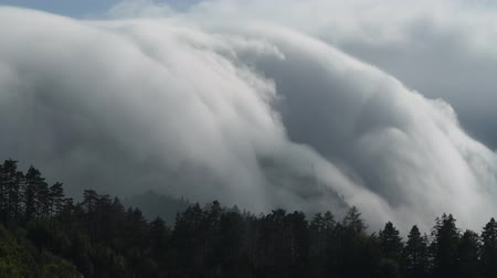 meteorological : Orographic Clouds in Austrian Alps, Europe. Weather Phenomena.
