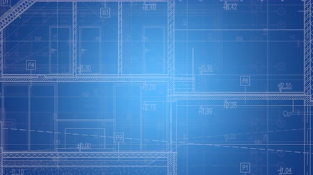 размеры : House Project Blueprint Background Illustration. Architectural Animated Backdrop