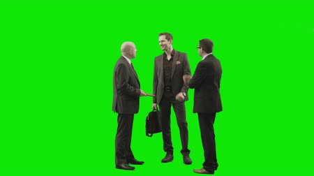 verde : greenscreen people - business group discussion
