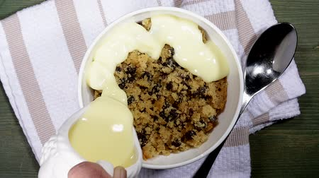 Spotted Dick Dessert Custard