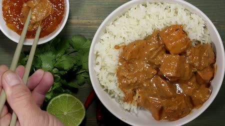 basmati : Beef Curry And Rice