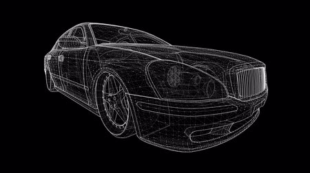 седан : Large sedan in a sports tuning of the polygonal grid.