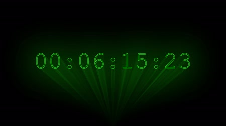 timecode : Green timecode drawn with laser beams.