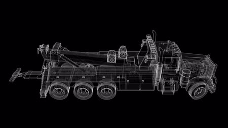 wrecker : Cargo tow truck to transport other big trucks or various heavy machinery. 3d rendering.