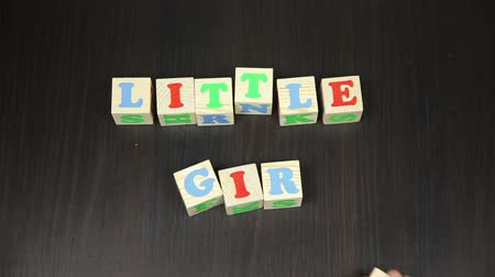 hamis : Little Girl, The animation of the cubes