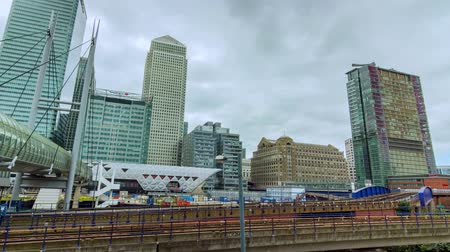 docklands : Time lapse of the Docklands in London in motion