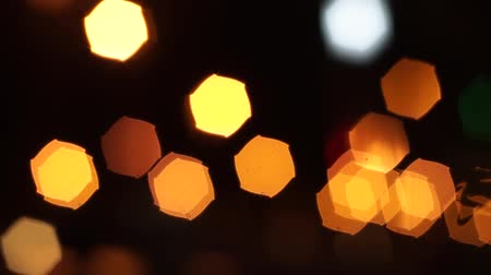 creativity : Orange Lights Bokeh (Loopable) 1080i Stock Footage
