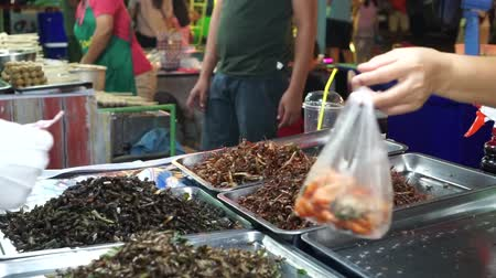 fritos : Fried insects such as grasshopper are typical Thai street food