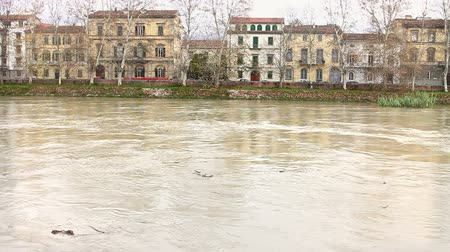floods : Flood of Arno River in Pisa